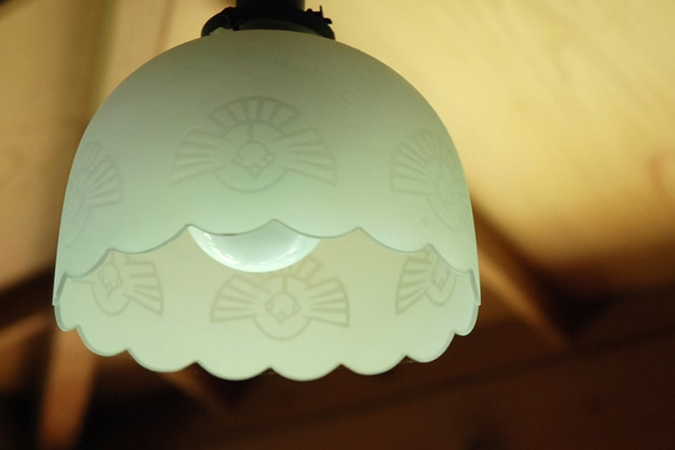 明治時代電灯の笠