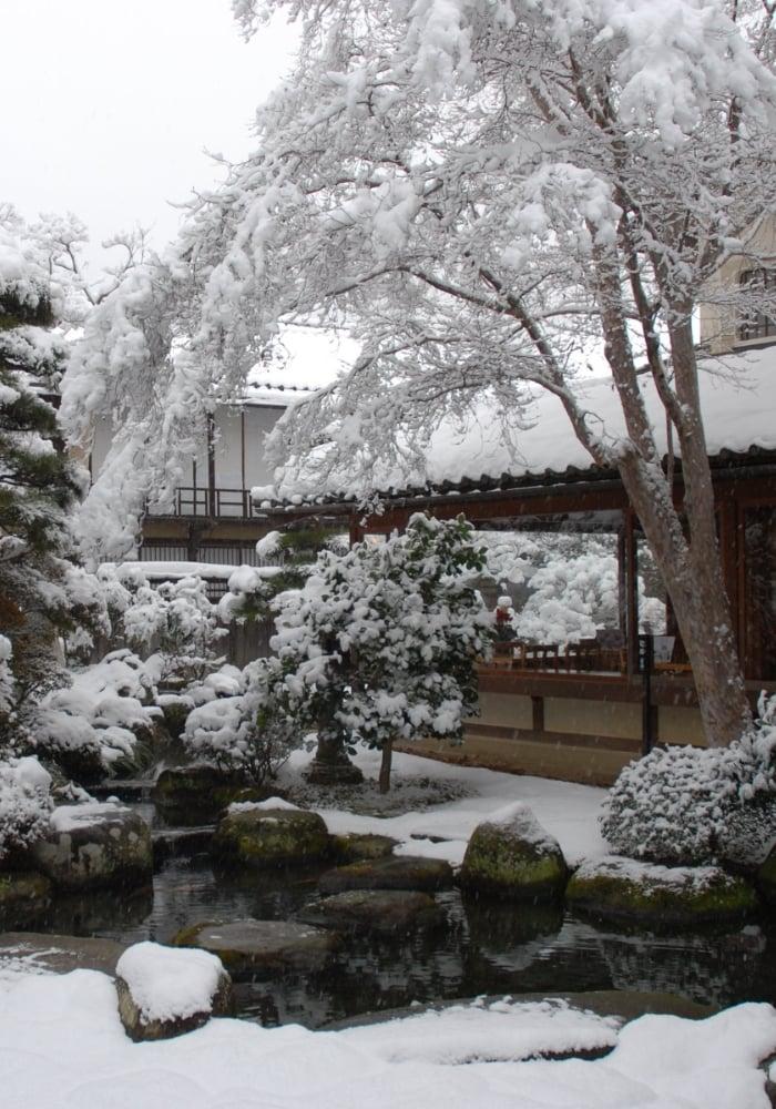 田中本家の冬の写真